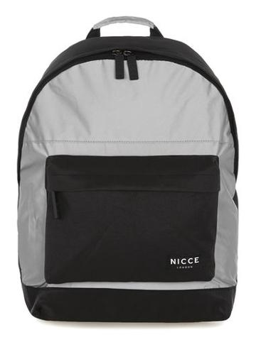 Topman Mens Black Nicce Reflective Backpack