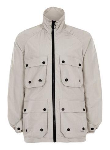 Topman Mens Grey Reflective Lightweight Jacket