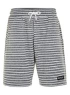 Topman Mens Nicce Grey And White Stripe Shorts