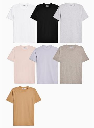 Topman Mens Assorted Colour T-shirt Multipack*