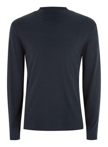 Topman Mens Selected Homme Navy High Neck T-shirt