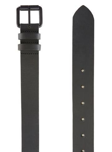 Topman Mens Matte Black Leather Belt