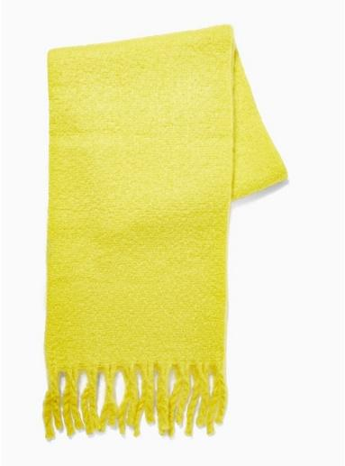Topman Mens Lime Green Scarf