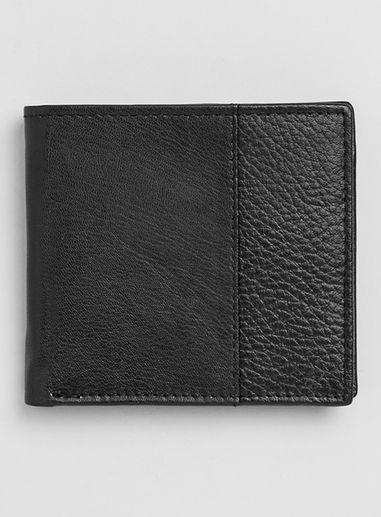 Topman Mens Topman Premium Black Leather Wallet
