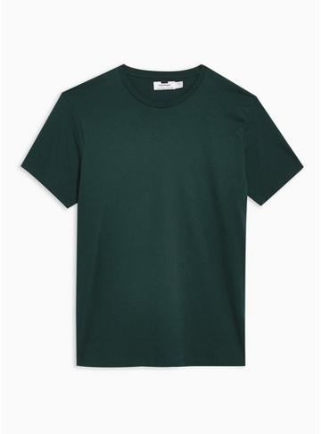 Topman Mens Blue Rich Teal T-shirt