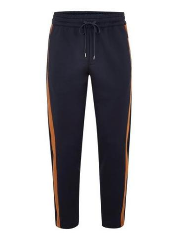 Topman Mens Navy Joggers With Side Panel Detail