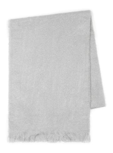 Topman Mens Light Grey Boucle Textured Knitted Scarf