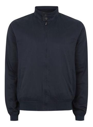 Topman Mens Navy Harrington Jacket