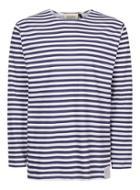 Topman Mens Blue Topman Finds Navy Breton Stripe Top