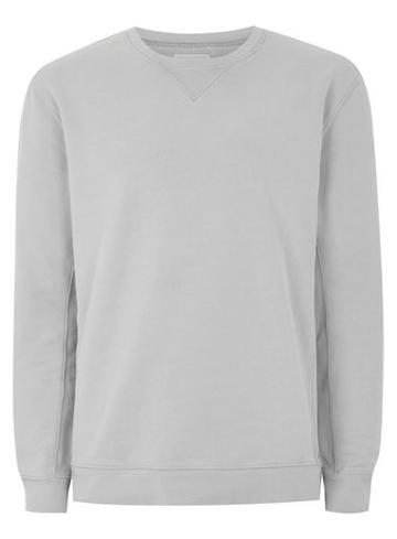 Topman Mens Grey Washed Gray Premium Sweatshirt