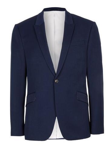 Topman Mens Blue Muscle Fit Suit Jacket