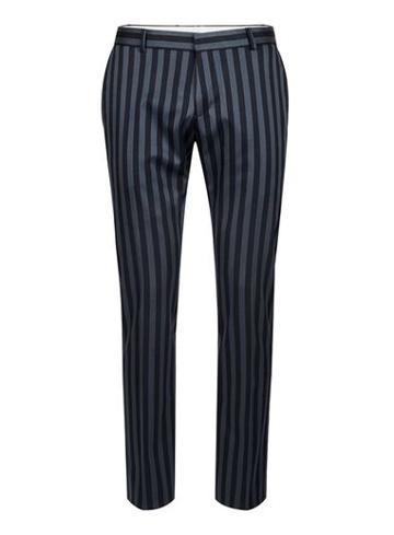 Topman Mens Blue Selected Homme Bold Stripe Suit Trousers