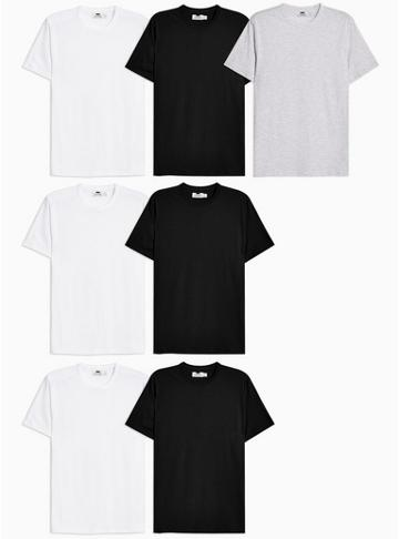 Topman Mens Multi Assorted Colour T-shirts 7 Pack*