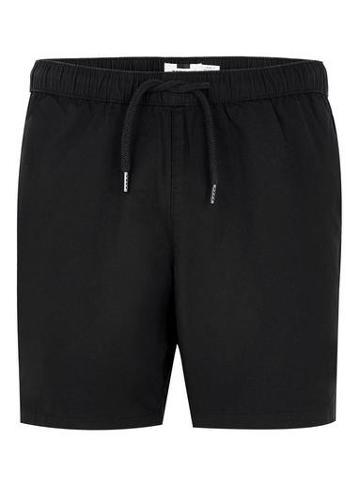 Topman Mens Black Ripstop Shorts