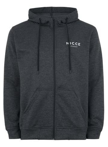 Topman Mens Grey Nicce Gray Tech Zip Through Hoodie