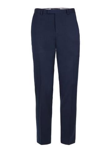 Topman Mens Blue Muscle Fit Suit Pants