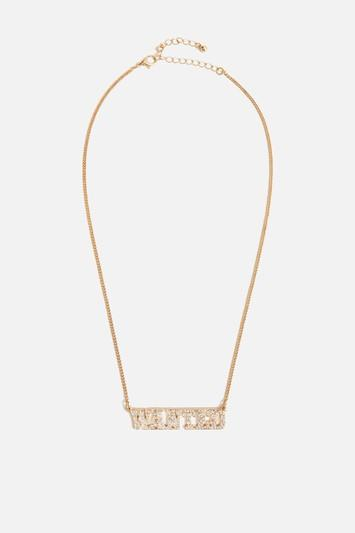 Topshop *wanted Necklace By Skinnydip