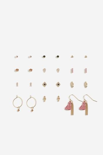 Topshop Bead And Tassel Mini Hoop Earrings Multipack