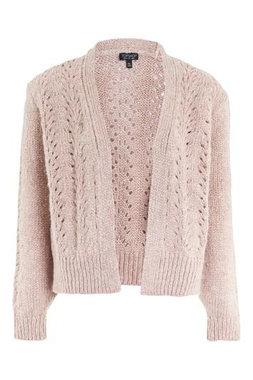 Topshop Pointelle Mohair Cardigan