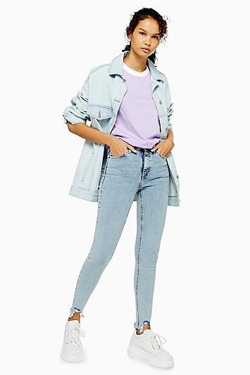 Topshop Bleach Bondi Hem Jamie Jeans