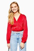 Topshop Jacquard Print Shirt