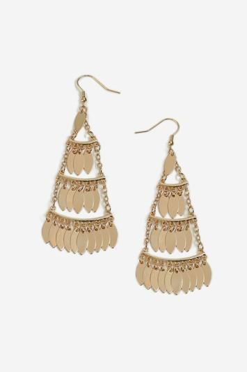 Topshop Layered Oval Drop Earrings