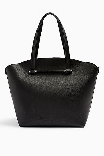 Topshop Tye Black Shopper Tote Bag