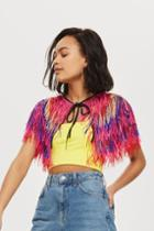 Topshop Festival Angelica Fringed Cape