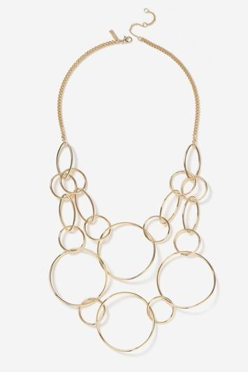 Topshop Fine Circle Link Drop Necklace