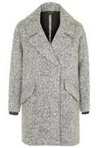 Topshop Slouchy Boucle Wool Blend Coat