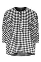 Topshop Gingham Oversized Shirt By Boutique