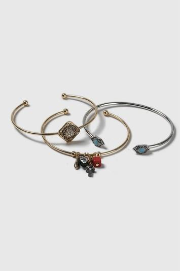 Topshop Beaded Cluster Bangle Pack