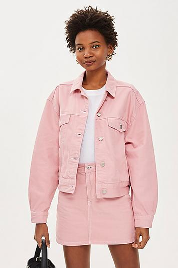 Topshop Sugar Pink Denim Jacket