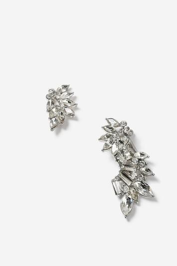 Topshop Rhinestone Cluster Earrings