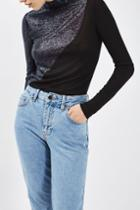 Topshop Swirl Roll Neck Top By Boutique