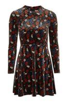 Topshop Petite Ditsy Velvet Dress