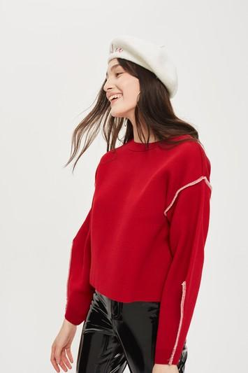 Topshop Bold Sleeve Sweater