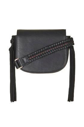 Topshop Woven Strap Saddle Bag