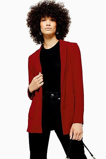 Topshop Red Chuck On Jacket