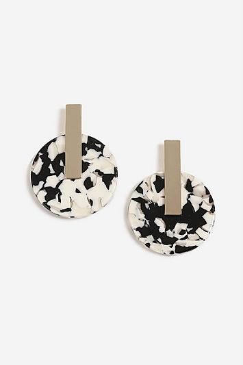 Topshop Circle Resin Drop Earrings