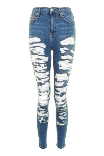 Topshop Moto Extreme Ripped Jamie Jeans