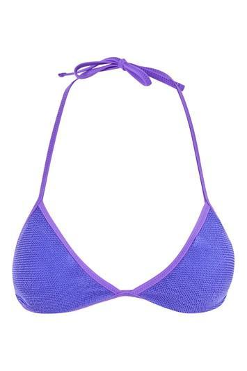 Topshop Shirred Triangle Bikini Bottoms