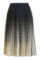 Topshop Pleated Foil Lace Skirt