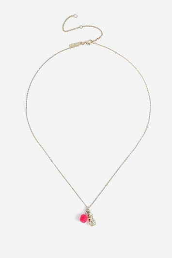 Topshop *pineapple And Pom Ditsy Necklace