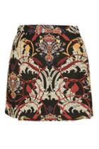 Topshop Petite Rambler Tapestry Skirt