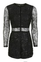 Topshop Tall Lace Playsuit