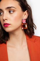 Topshop *square Bead Drop Earrings