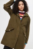 Topshop Wax Parka Jacket