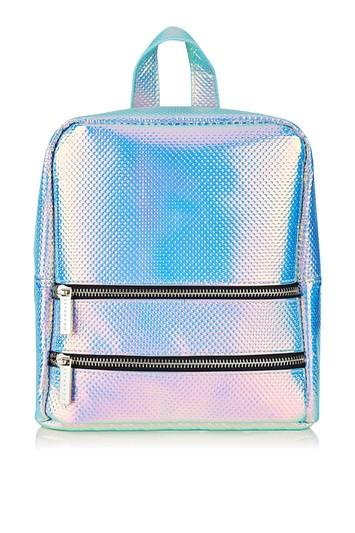 Topshop *holo Cat Backpack By Skinnydip