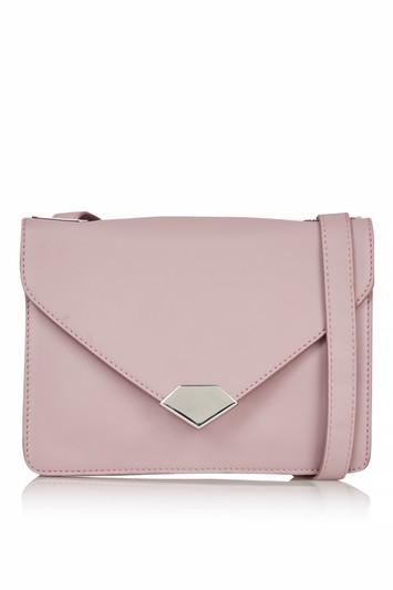 Topshop Olympus Leather Lock Front Crossbody